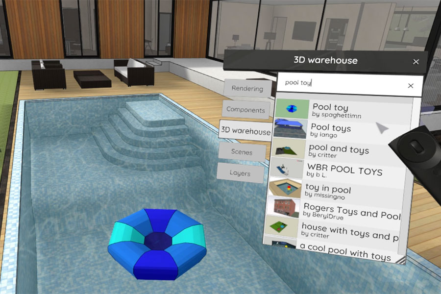 3D Warehouse in VR Sketch 5.0